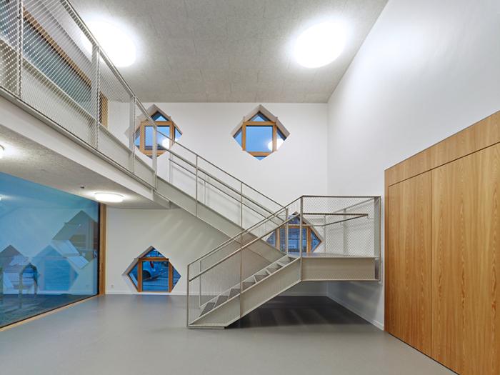 Vista malla metálica rombo pequeño, Kindertagesstätte Atterberry, Frankfurt/Guarderia en Kleingemünd