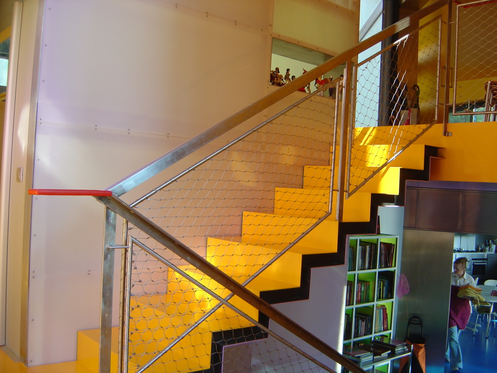Casa Levene-Detalle Escaleras-Mallas Metálicas