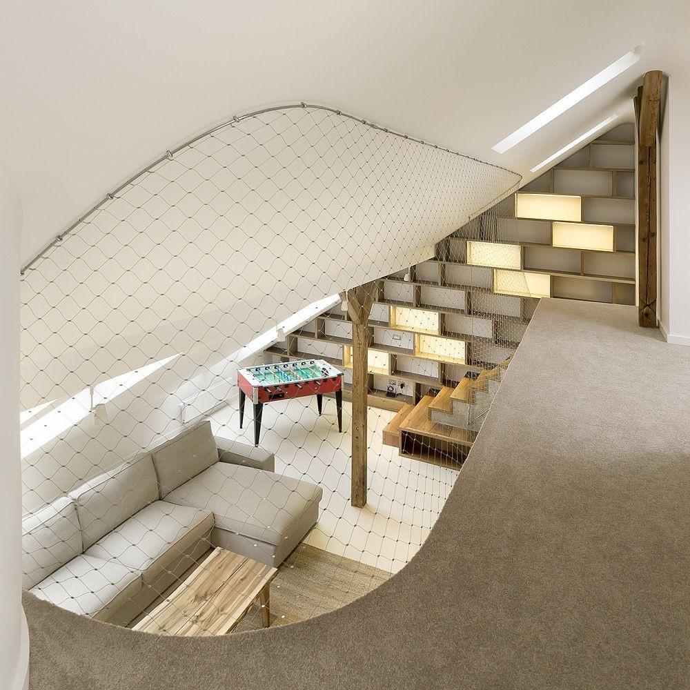 Malla protección anti-caída-vista interior apartamento