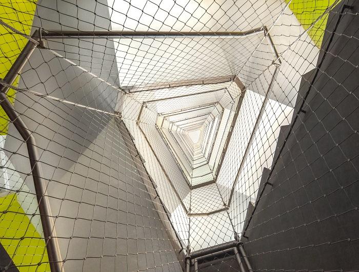 Huecos de escalera protegidos