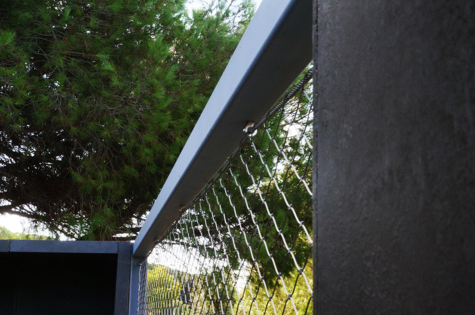 Malla cables acero-Magda Sunyer
