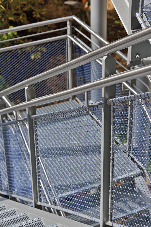 Malla metalica de cables de acero azul