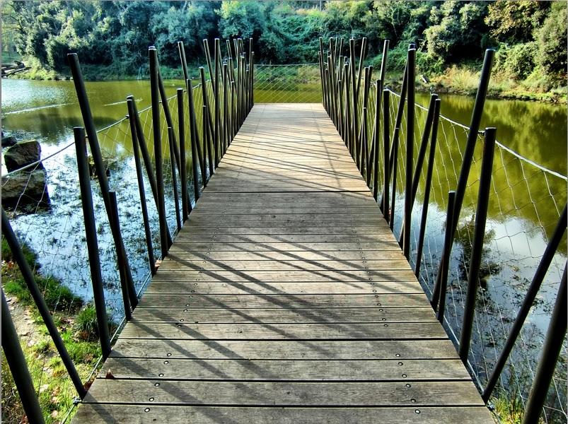 Parc de Collserola-Vista muelle-Malla de cables de acero inox X-TEND