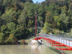 Puente relleno de malla de cables Marienbrücke Wernstein