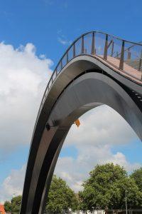 Puente relleno de malla de cables Purmerend Melkwegbrug