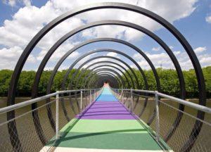 Puente relleno de mallas de cables Slinky Springs