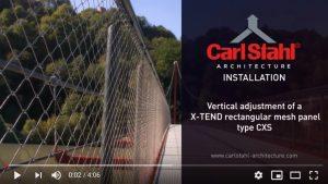 Instalación malla X-TEND