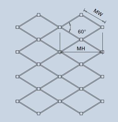 X-TEND geometria rombo